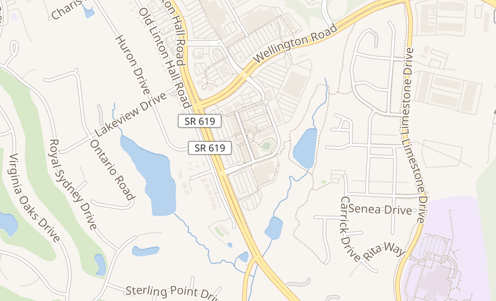 map of 14074 Promenade Commons StGainesville, VA 20155