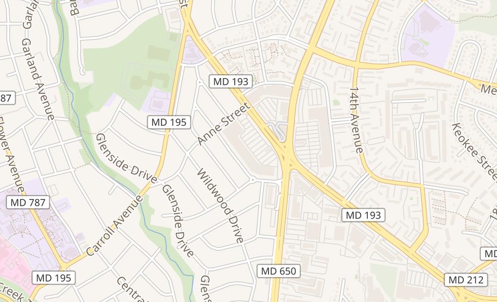 map of 1141 University BlvdTakoma Park, MD 20912