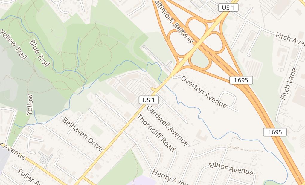 map of 7694 Belair RdNottingham, MD 21236