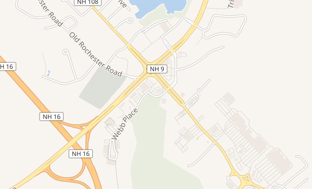 map of 13 Webb PlDover, NH 03820