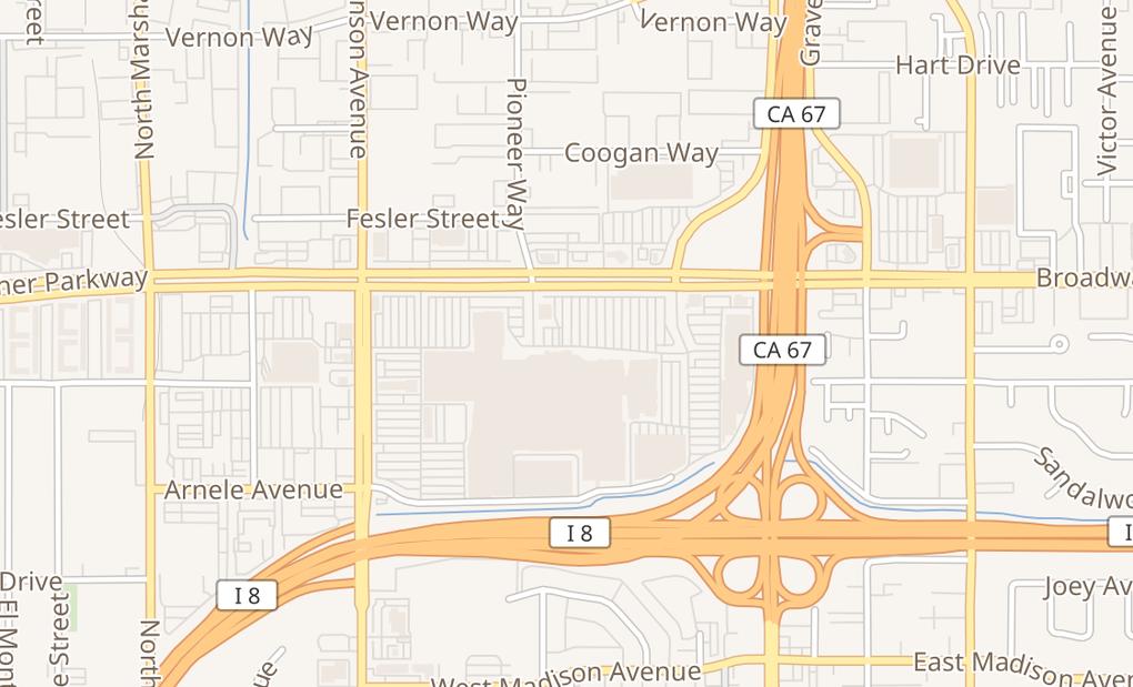 map of 925 Parkway PlazaEl Cajon, CA 92020