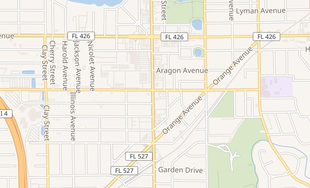 map of 902 S Orlando AveWinter Park, FL 32789