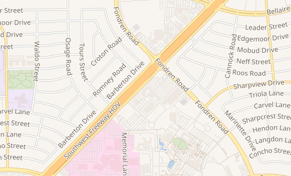 map of 7459 Southwest Freeway Ste 200Houston, TX 77074