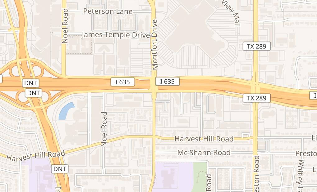 map of 5620 Lyndon B Johnson Fwy Ste 100Dallas, TX 75240