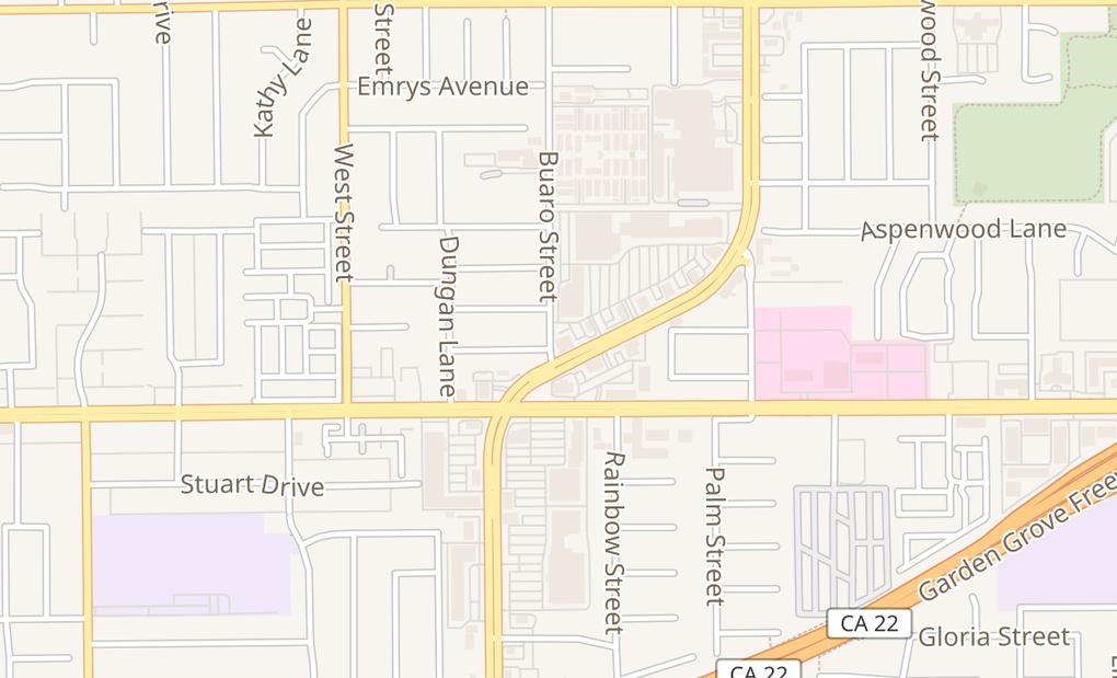 map of 12913 Harbor Blvd Ste Q4-Q5Garden Grove, CA 92840
