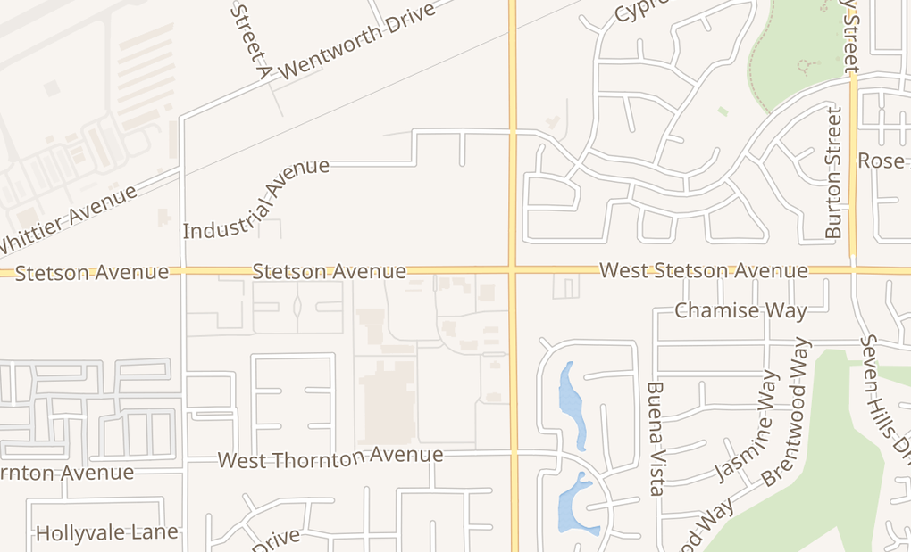 map of 3527 W Stetson AveHemet, CA 92545