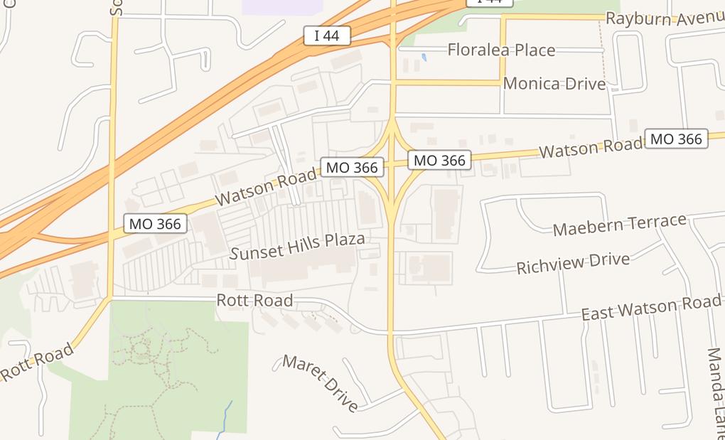 map of 10738 Sunset Hills PlzSaint Louis, MO 63127