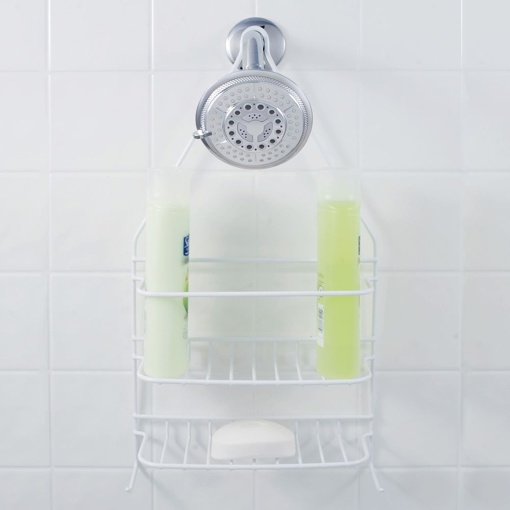 Exquisite Basic Shower Caddy with 2 Shelves White - Teays Valley, WV ...
