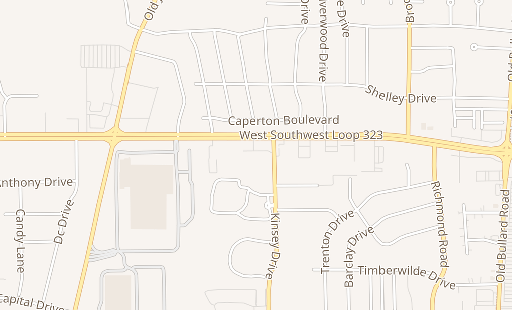 map of 1400 W Sw Loop 323 Ste 70Tyler, TX 75703