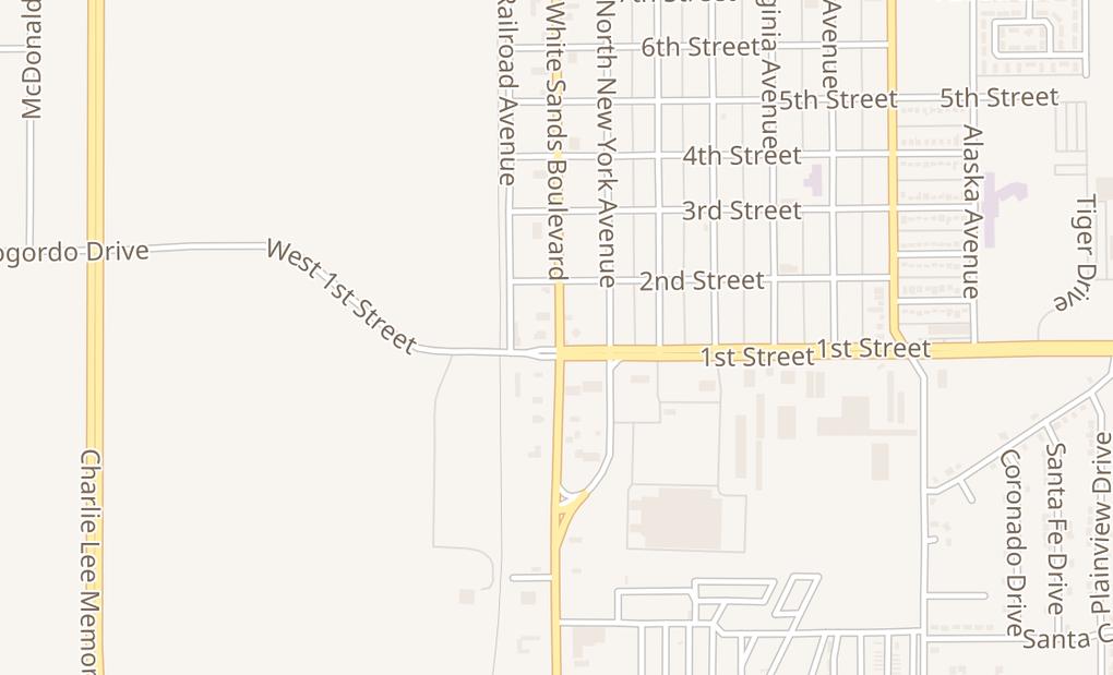 map of 111 N White Sands BlvdAlamogordo, NM 88310