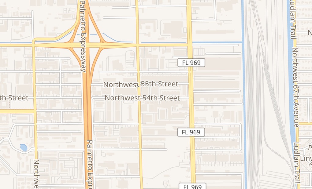 map of 5400 NW 72nd AveMiami, FL 33166-4224