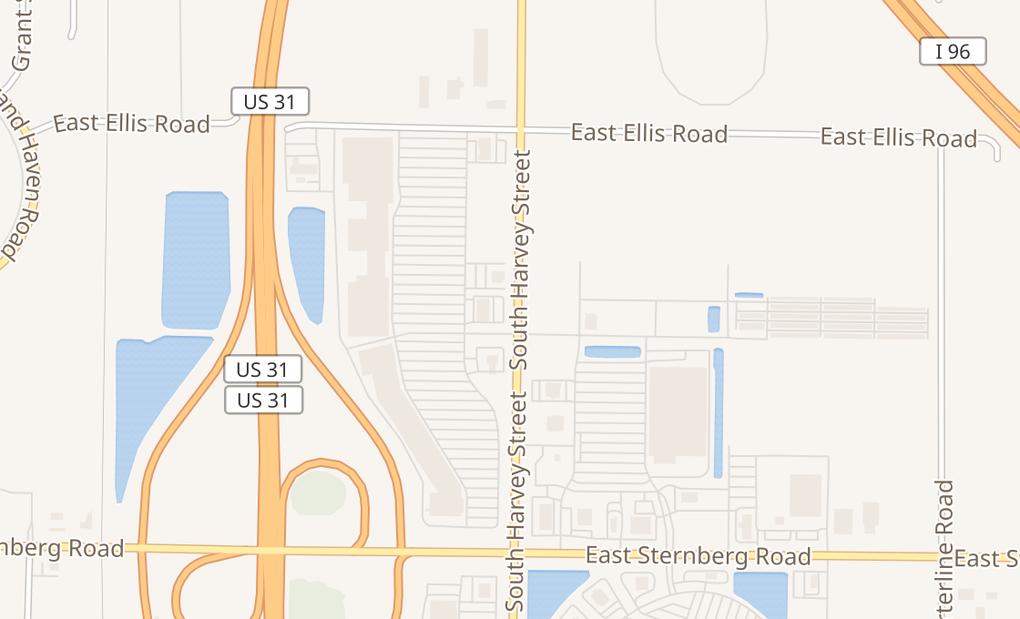 map of 5169 South Harvey Street Suite FNorton Shores, MI 49444