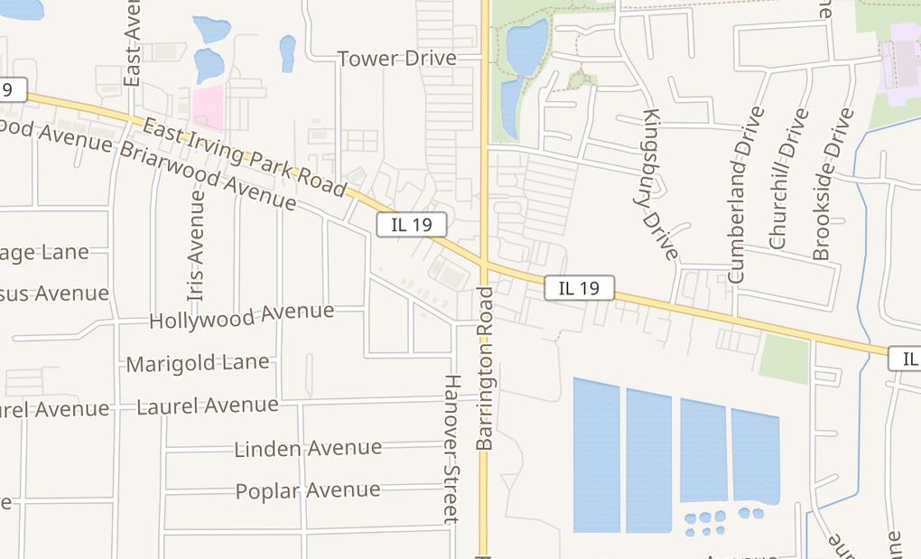 map of 7350 Barrington RdHanover Park, IL 60133