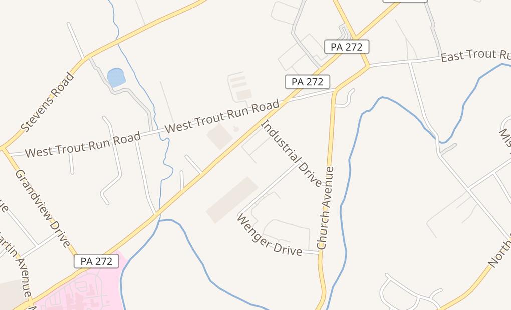 map of 403 N Reading RdEphrata, PA 17522