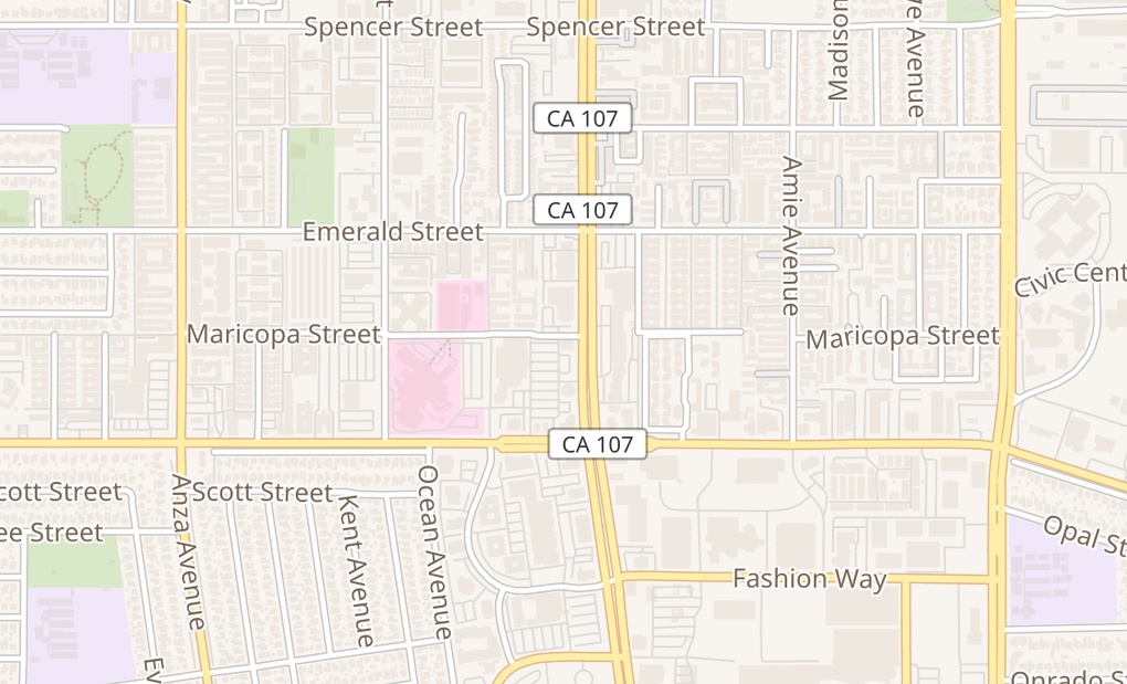 map of 21017 Hawthorne BlvdTorrance, CA 90503