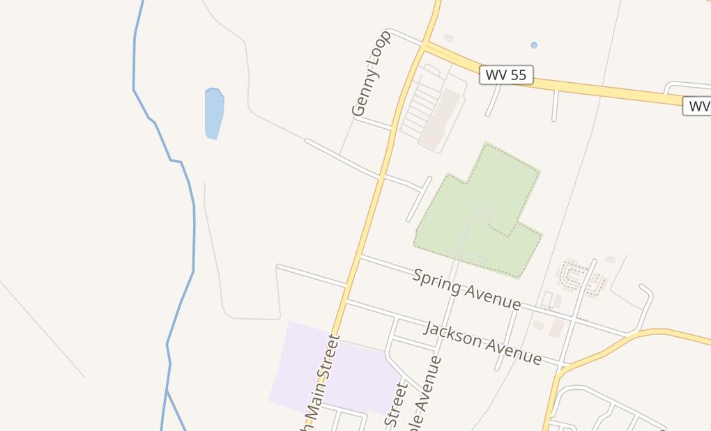 map of 712 N Main StMoorefield, WV 26836