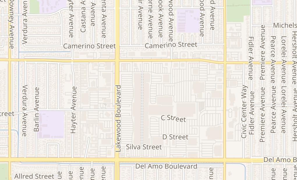 map of 9 Lakewood Center Mall #109Lakewood, CA 90712