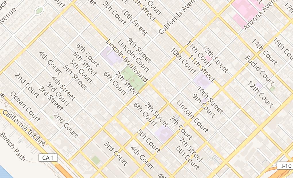 map of 720 Wilshire Blvd Ste 102Santa Monica, CA 90401