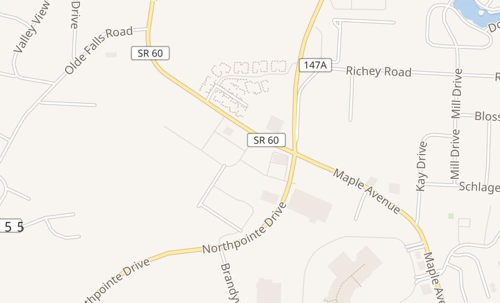 map of 3934 Taryn Trace M3Zanesville, OH 43701