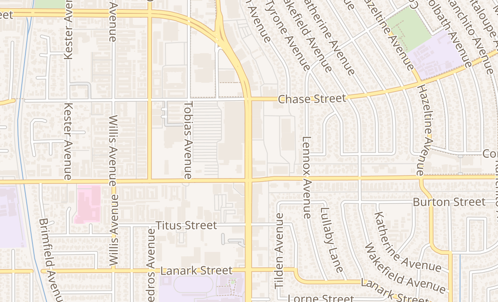 map of 8401 Van Nuys Blvd Unit K105Panorama City, CA 91402
