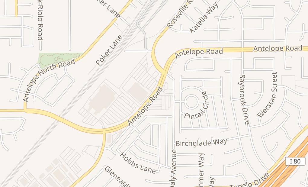 map of 5820 Antelope Rd Ste 101Sacramento, CA 95842