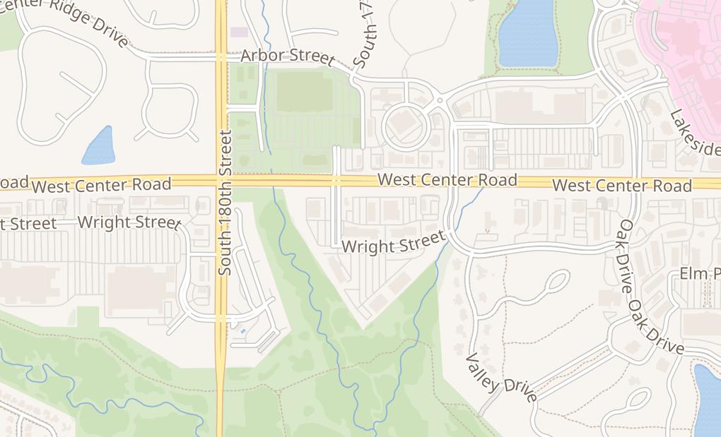 map of 17650 Wright StOmaha, NE 68130