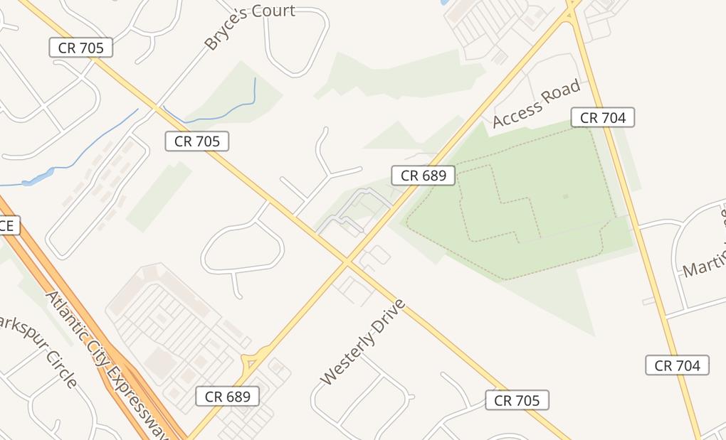 map of 579 Cross Keys Rd Ste CSicklerville, NJ 08081