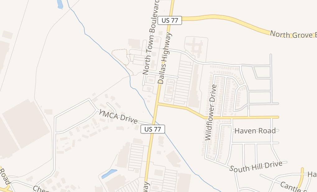 map of 1620 N Highway 77 Ste 200Waxahachie, TX 75165