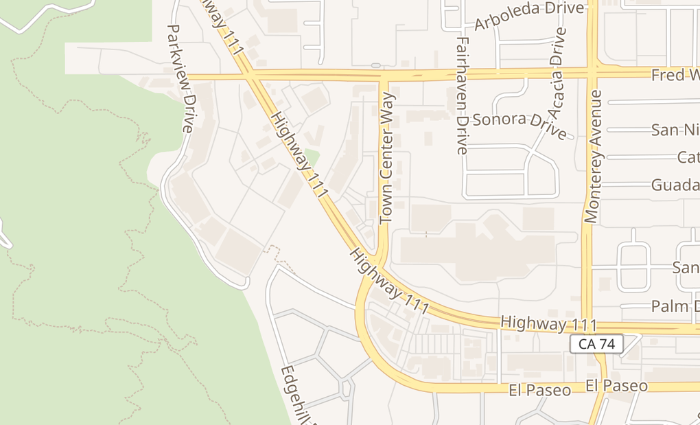 map of 44489 Town Center Way Ste FPalm Desert, CA 92260