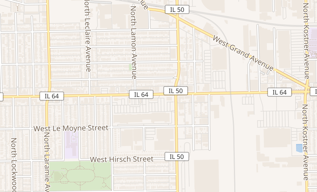 map of 4851 W North AveChicago, IL 60639
