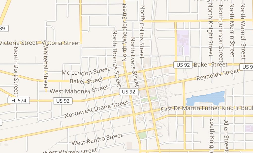 map of 2126 James L Redman PkwyPlant City, FL 33563