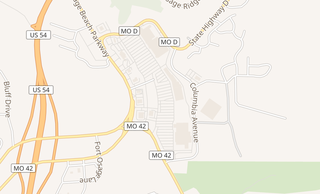 map of 3924 JR Prewitt Pkwy #AOsage Beach, MO 65065