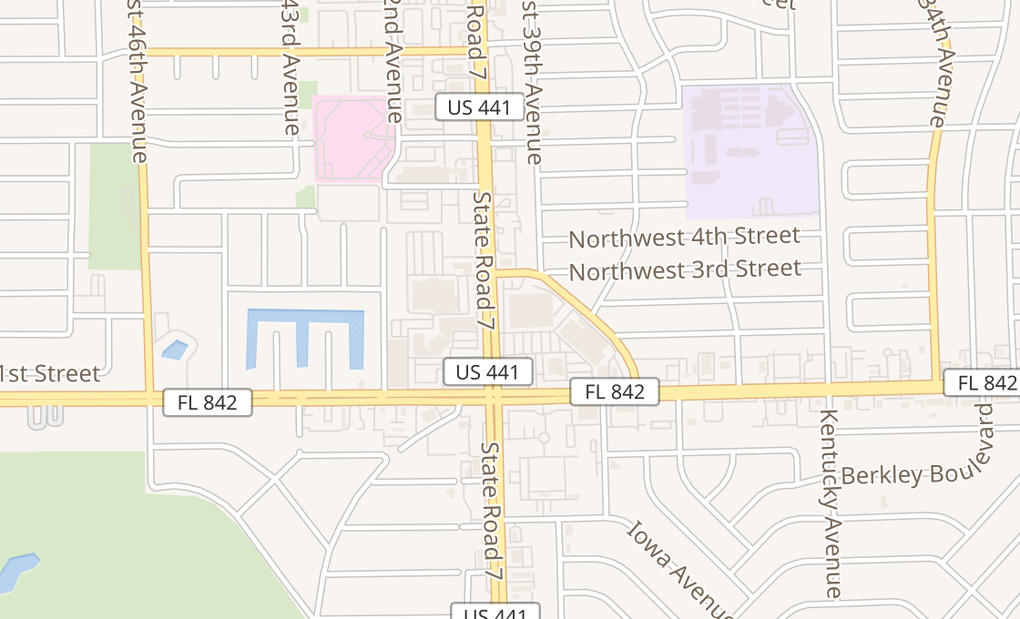 map of 3939 W Broward BlvdFort Lauderdale, FL 33312