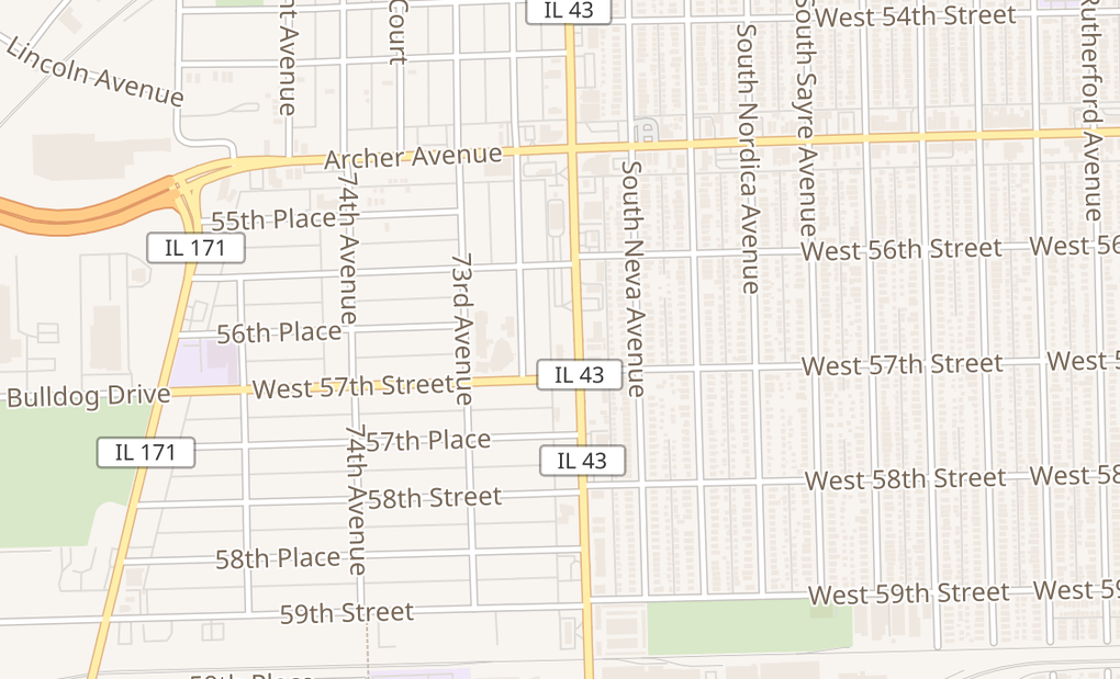 map of 5640 S Harlem AveSummit, IL 60501