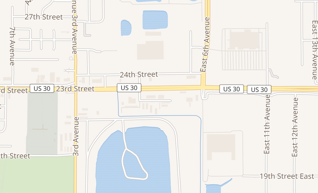 map of 333 E 23rd St Ste 200Columbus, NE 68601