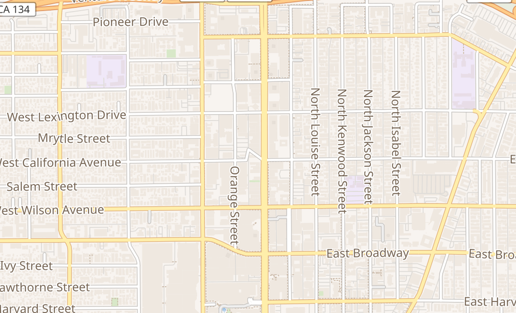 map of 301 N Brand BlvdGlendale, CA 91203