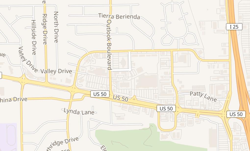 map of 4104 Outlook Blvd Ste C121Pueblo, CO 81008