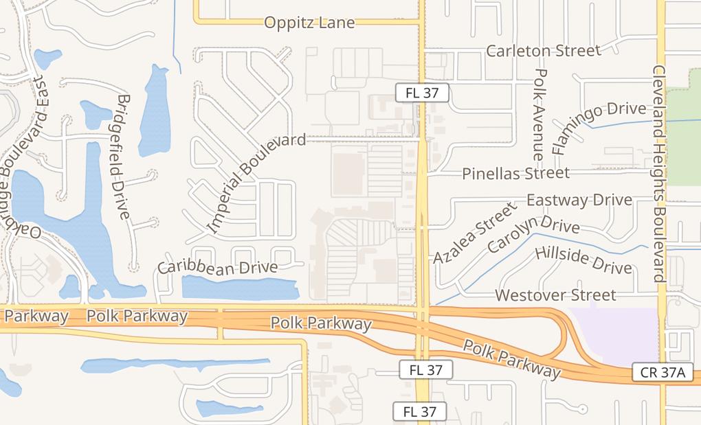 map of 3615 S Florida AveLakeland, FL 33803