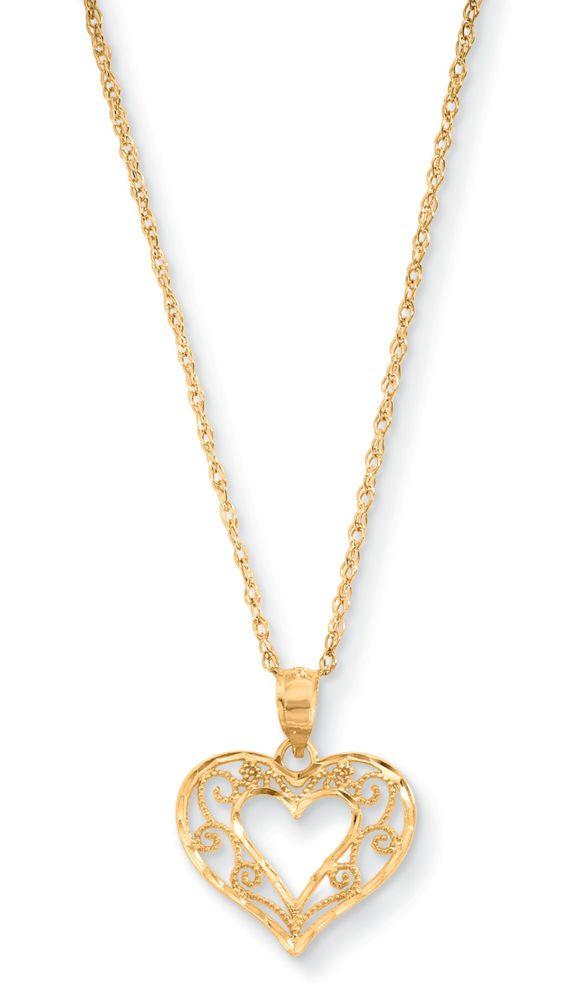 Sears 10k yellow gold filigree heart pendant newburyport ma at 10k yellow gold filigree heart pendant sears cb35269 in stock newburyport aloadofball Image collections