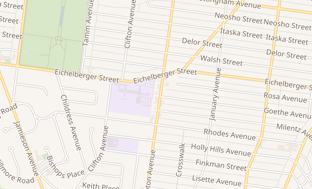map of 5441 Hampton AveSt Louis, MO 63109