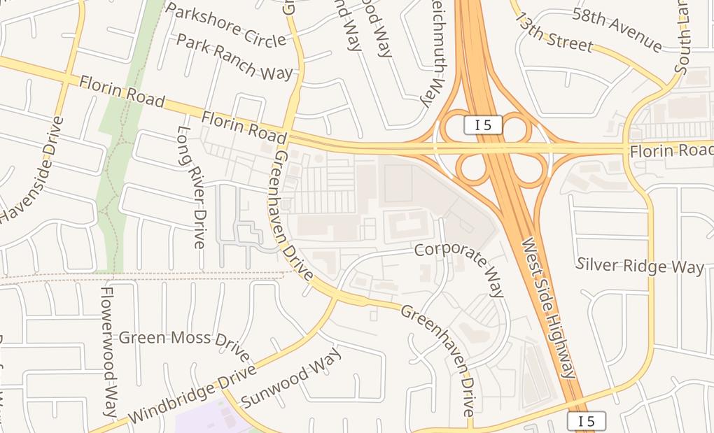 map of 1012 Florin RdSacramento, CA 95831