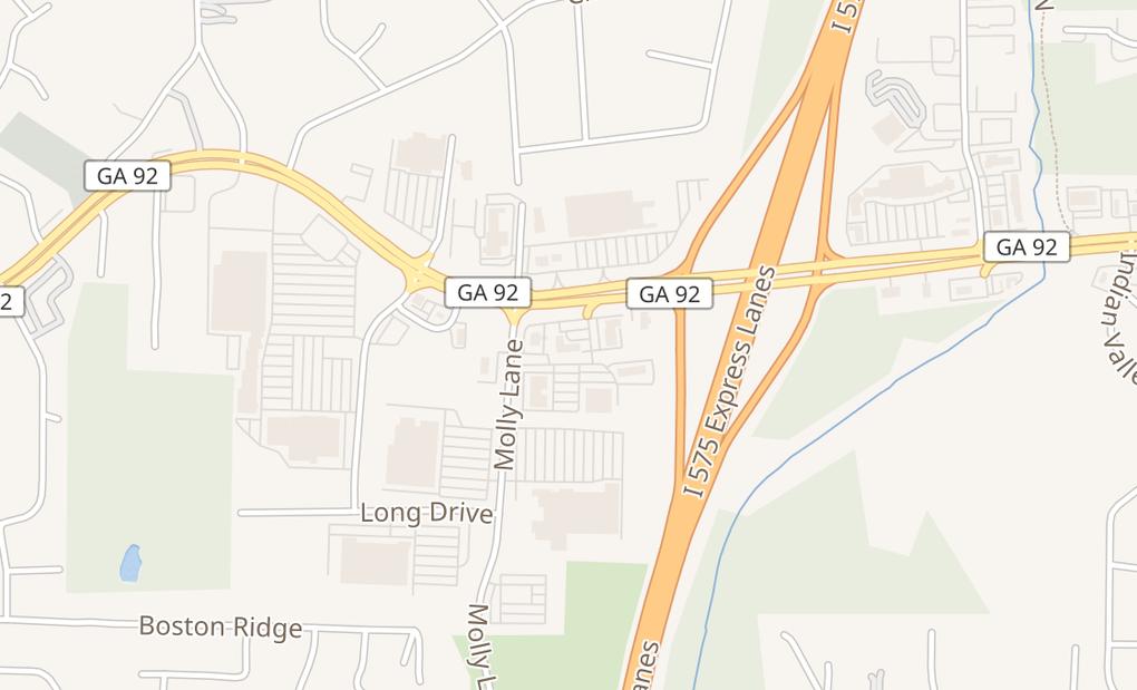 map of 9020 Hwy 92 Ste 110Woodstock, GA 30189
