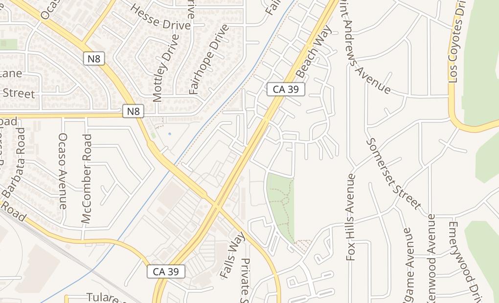 map of 5161 Beach Blvd Ste EBuena Park, CA 90621