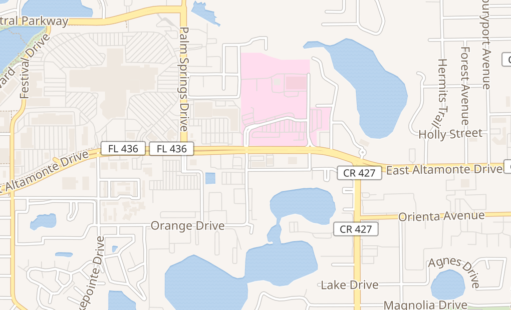 map of 600 E Altamonte Dr Ste 1000Altamonte Springs, FL 32701