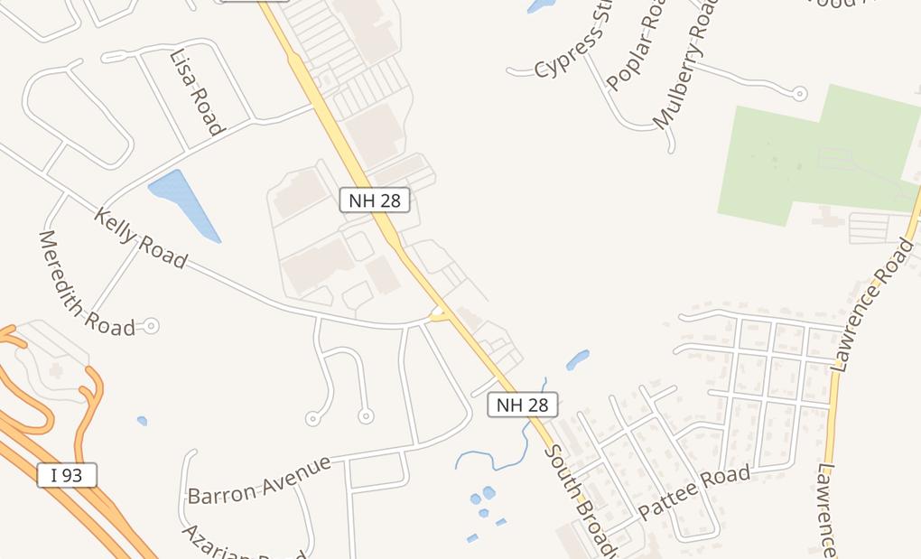 map of 315A S BroadwaySalem, NH 03079