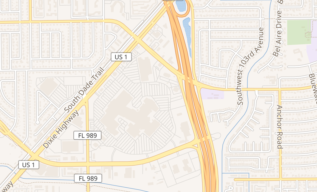 map of 20505 S Dixie Hwy Room #561Cutler Bay, FL 33189