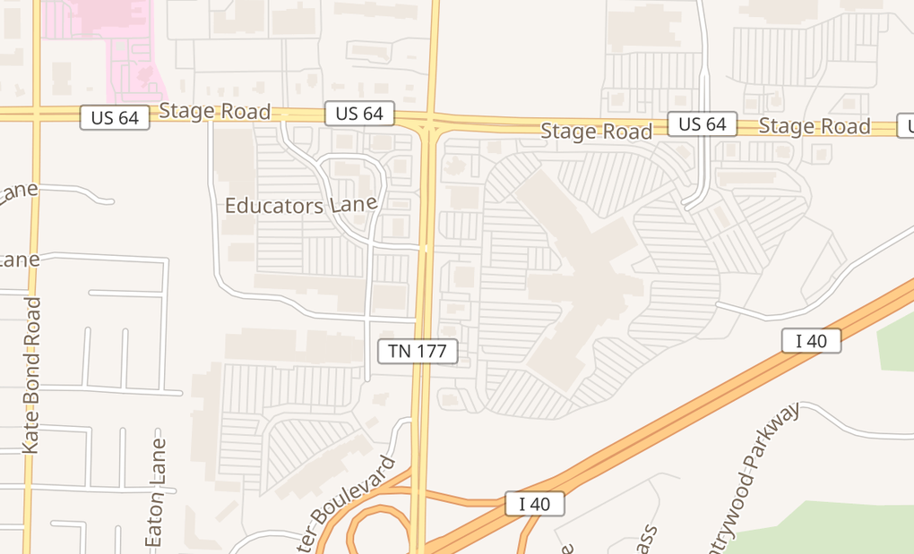 map of 2760 N Germantown Pkwy Unit 2130Memphis, TN 38133