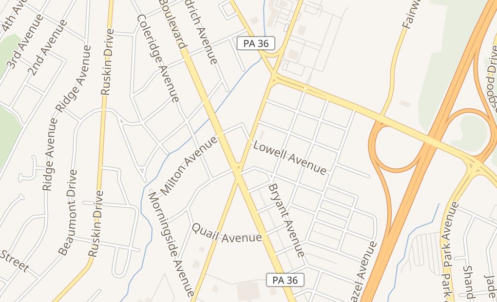 map of 509 E Plank Rd Ste BAltoona, PA 16602