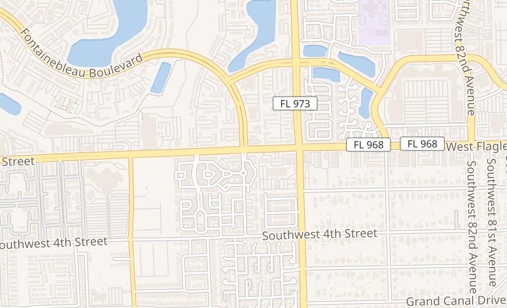map of 8766 W Flagler StMiami, FL 33174