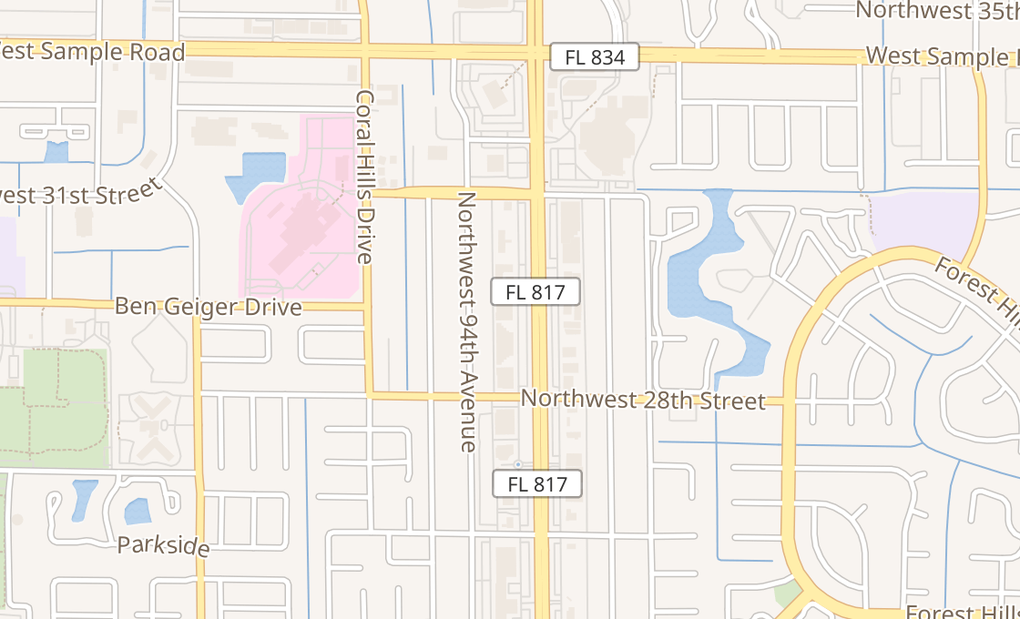 map of 2912 University Dr Ste 14Coral Springs, FL 33065